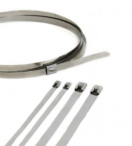 """Self Locking 14/"""" Stainless Steel Zip Ties Black Coated 100 pk."""