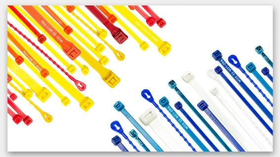 Heavy Duty Nylon Coloured Cable Ties Packs of 100 to 500 Various Sizes