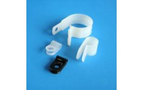 "1000 Pack .500"" Natural Molded Plastic Cable Clamps"