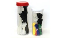 25 Pack Cable Tie Kit (Colors)